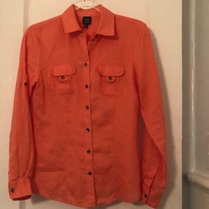 Saks Fifth Avenue Blue Label Coral Linen blouse